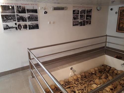 Tabule s fotografiami z I. svetovej vojny a obce Osadné.