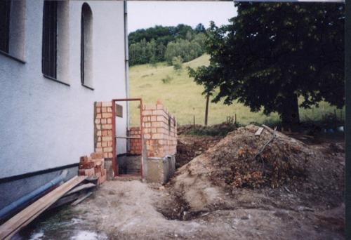 Murovanie prístavby